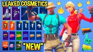 *NEW* ALL LEAKED Fortnite Skins & Emotes..! *ANIMATED WRAP* (Make it Rain V2, Starter Pack)