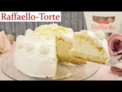 Raffaello Torte Rezept / Raffaello Kuppeltorte backen / Kokostorte mit Raffaello Creme
