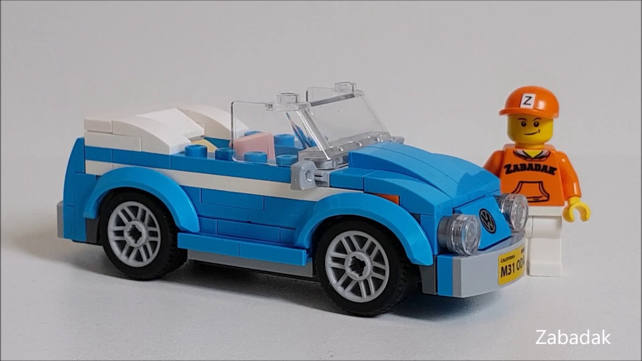 lego creator 40252 custom vw beetle convertible set youtube. Black Bedroom Furniture Sets. Home Design Ideas