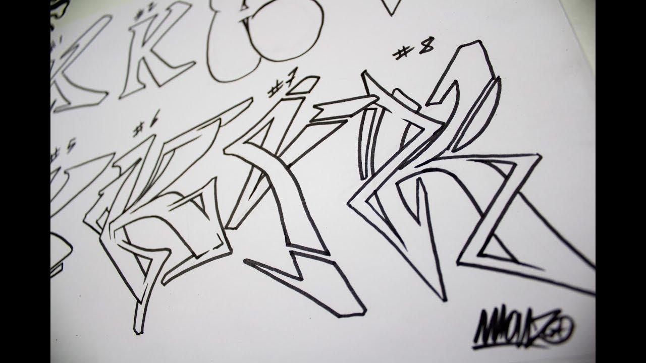 Graffiti Alphabet Practicando La Letra K