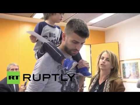 Spain: Barcelona football star Gerard Pique casts vote in Catalan election