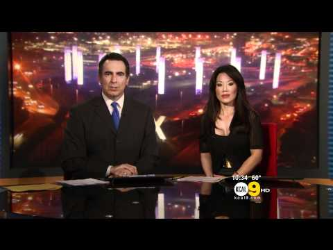 Sharon Tay 2012/06/11 KCAL9 HD; Black top