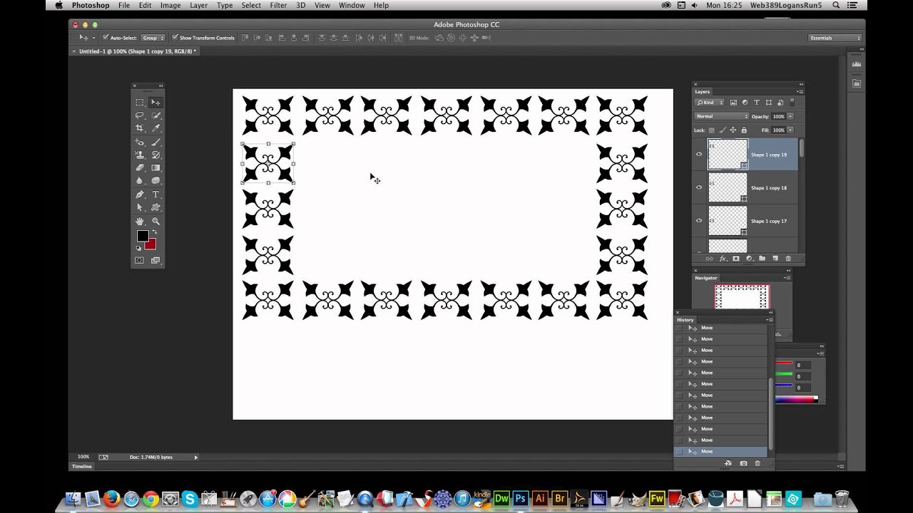Photoshop CC : Create frames / border effects using multiple shapes in  Photoshop