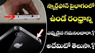 do you know what do holes on smart phones indicate? స్మార్ట్ ఫోన్ పైన ఉండే రంద్రాలు ఏంటో తెలుసా?