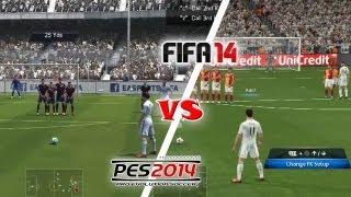 FIFA 14 vs. PES 14: Free Kicks