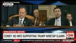 "Comey: FBI has ""no evidence Obama wiretapped Trump Tower"" Dramatic Live Coverage"