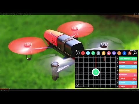 Settings Parrot Bebop Drone & Flight Plan on iPad and Android & Flight-Video !