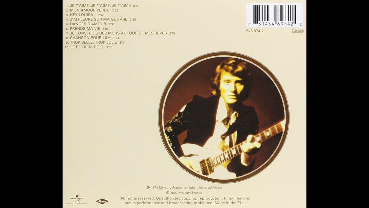 Johnny Hallyday J'ai pleuré sur ma guitare 1974 - YouTube