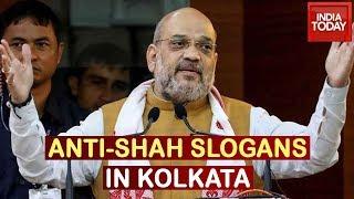 Amit Shah Rally's Begins In Kolkata, Anti-Shah Slogans Raised In Kolkata