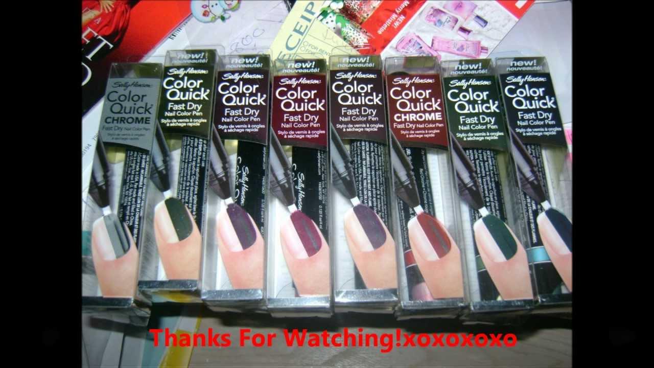 Sally Hansen Color Quick Chrome Fast Dry Nail Pen Tutorial