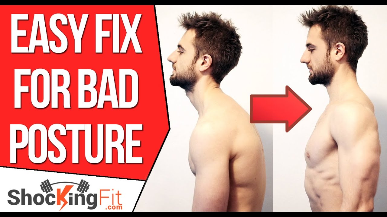 How to Fix Bad Posture  Simple Exercise To Prevent Rounded Shoulders  YouTube