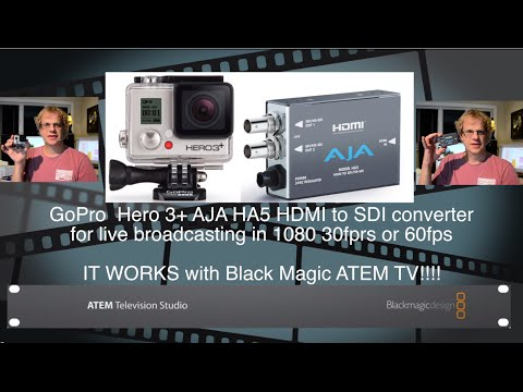 GoPro HDMI to SDI for Live Broadcasting