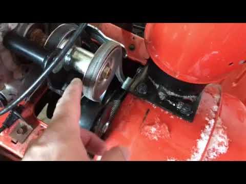 Husqvarna 2 Stage Blower Drive Belt Adjustment Youtube