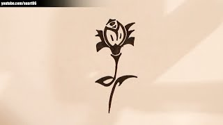 How to draw a tribal rose