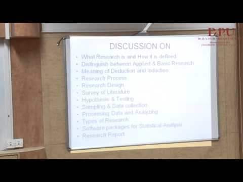 Research Methodology : Part-1