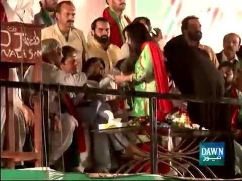 PTI Jalsa in Okara   Video Dailymotion
