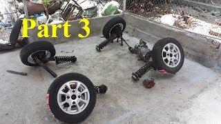 Homemade Lamborghini car part 3 - Front axle suspension