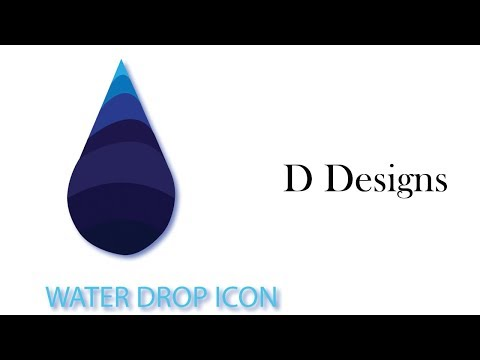 Adobe illustrator tutorial - Quick and Simple Tips Create Water Drop icon logo design in illustrator thumbnail