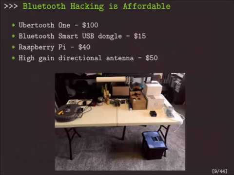 DEF CON 24 - Picking Bluetooth Low Energy Locks a Quarter Mile Away