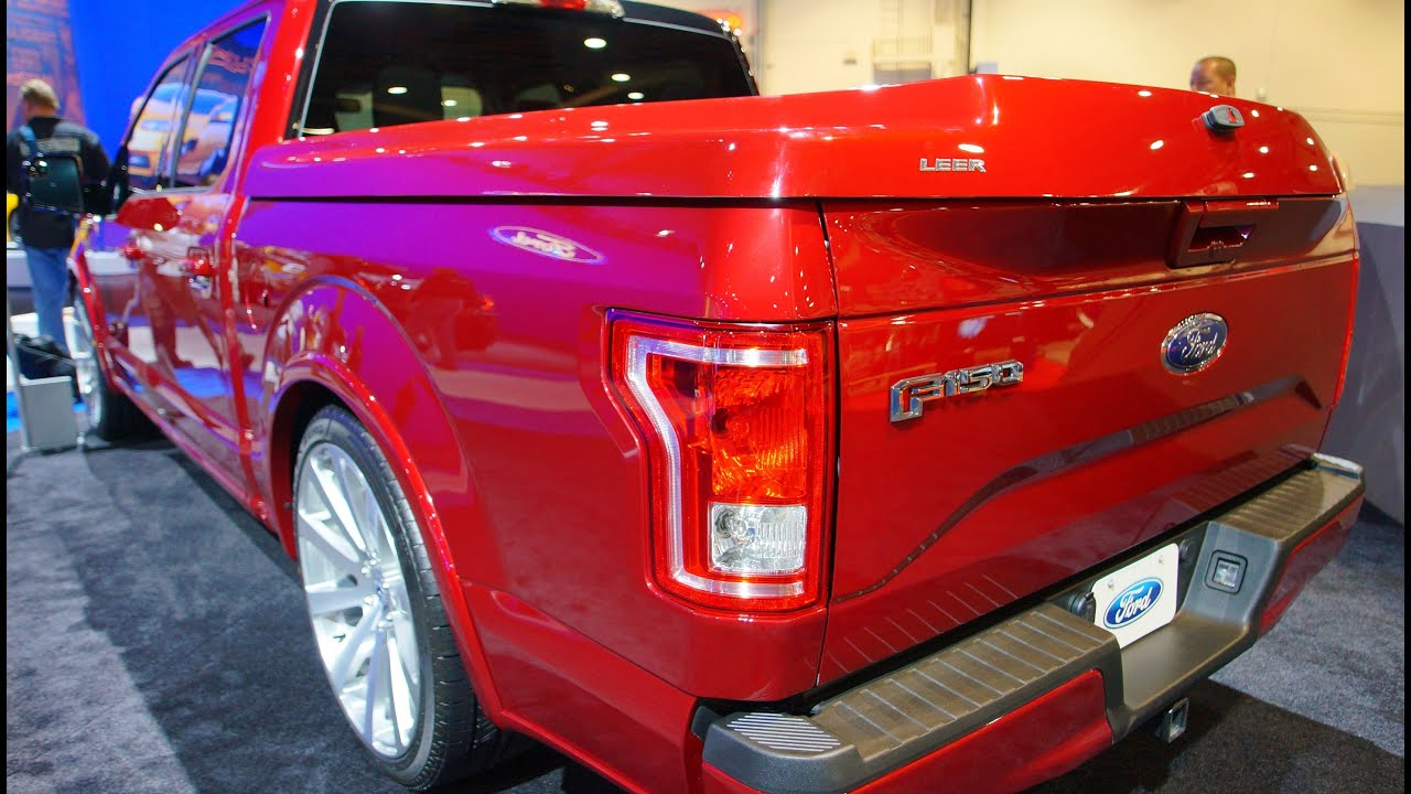 Ford F150 Hard Bed Cover >> 2015 LEER F150 at SEMA 2014 - YouTube