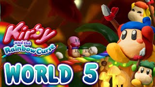 Kirby and the Rainbow Curse: World 5 (4-Player)