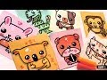 How To Draw Cute Animals - Dog, koala, rabbit, cat, monkey, snake and hamster