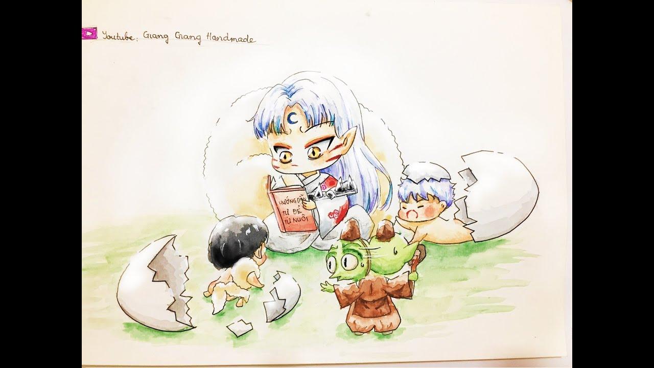 ( Speed drawing ) Vẽ chibi Sesshoumaru