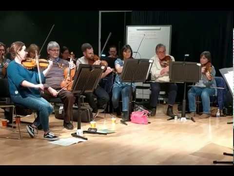 Chloë Hanslip | Northern Chamber Orchestra | Tchaikovsky Souvenir de Florence rehearsal