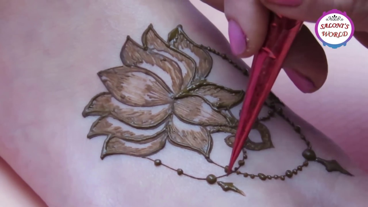 Beautiful lotus flower henna tattoo design by jyoti sachdeva youtube beautiful lotus flower henna tattoo design by jyoti sachdeva izmirmasajfo