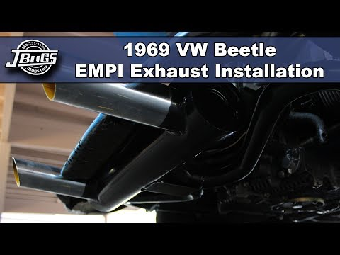 JBugs - 1969 VW Beetle - Exhaust & J-Tube Installation on