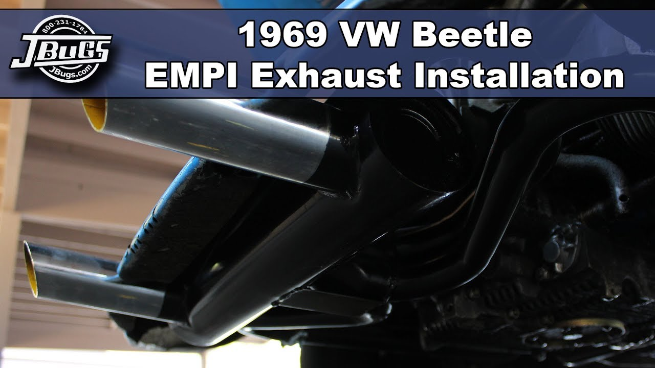 small resolution of jbugs 1969 vw beetle exhaust j tube installation