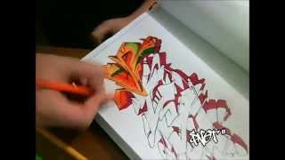 """""""Snot"""" Wildstyle Graffiti Drawing (REQUESTED) 2013"""