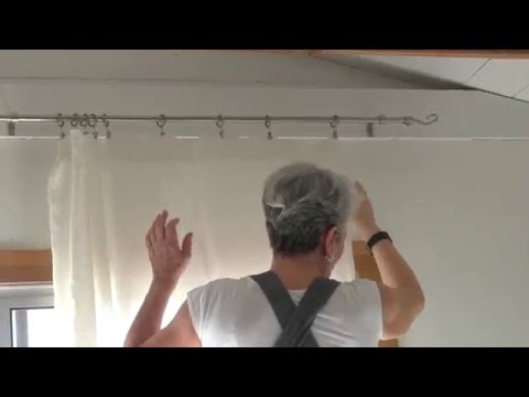 Hanging Curtains Using Ring Clips (easiest method) - presented by Tricia Rose of Rough Linen