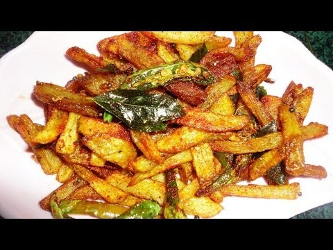 how to prepare potato fry in tamil