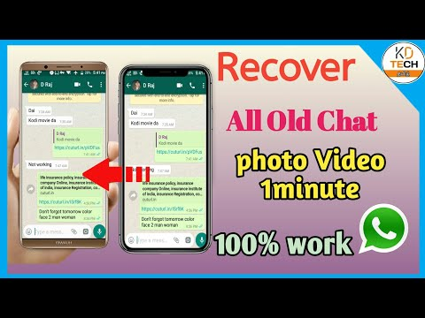 . How To Recover WhatsApp Old Chat ,photo, Video / #WhatsApp / #KDTECH  #TAMILTECH