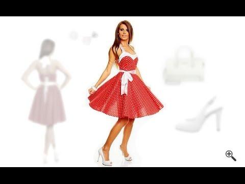Rote kleider 50er