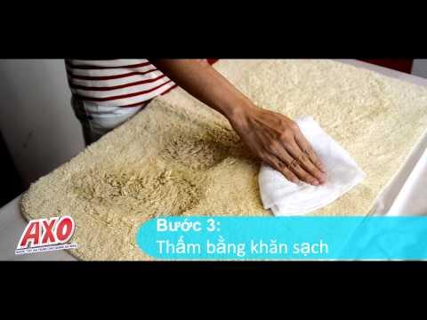 Nước tẩy an toàn cho vải màu Axo hiệu quả trên thảm trải sàn, thảm chùi chân, giẻ lau…