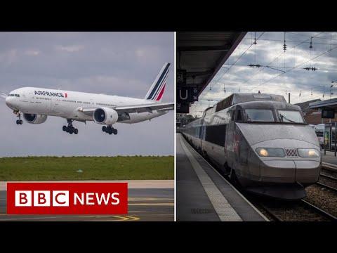 France moves to ban short-haul domestic flights - BBC News