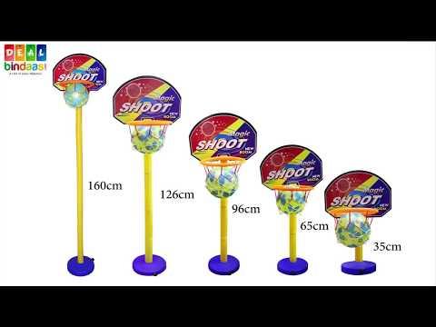 DealBindaas Nippon Basket Ball Kit Adjustable with Stand for Kids | BasketBall Set | 2-4 Years