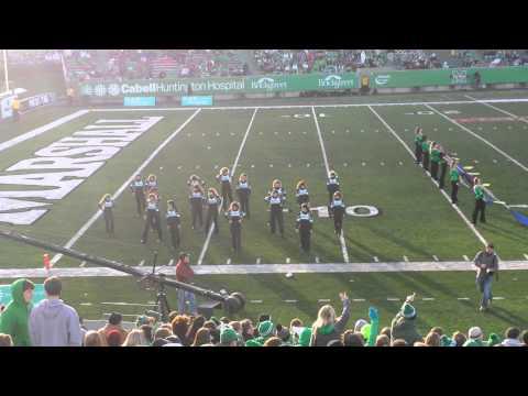 Marshall University Music Band. And Cheerleaders