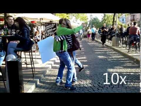 [FREE HUGS] Ljubljana, sLOVEnia (music by Edvard Grieg, Morning mood)
