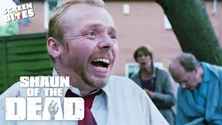 Shaun Of The Dead - Just over there over 20 garden fences? Simon Pegg, Nick Frost, Edgar Wright