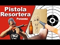 Pistola Resortera muy potente – Arma casera Multiusos (vidrio, madera cartón)