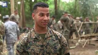 U.S. Marines drink cobra blood during jungle training exercise