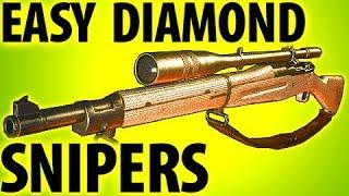 COD WW2 TIPS - EASY DIAMOND CAMO SNIPERS