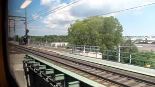 The train ride from Newark International Airport to New York City