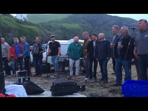 Port Isaac's Fisherman's Friends singing South Australia with the cast of Fisherman's Friends movie.