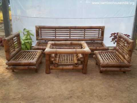 Bamboo Couch And Chairs Big Office Uk Furniture In India Wmv Youtube