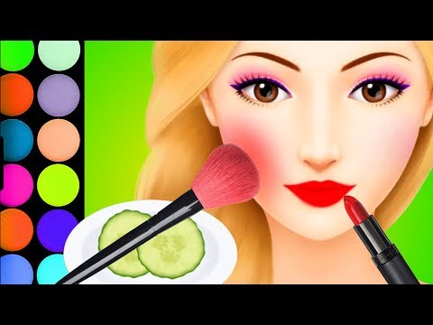 Learn Colors Makover Hair Salon & SPA Dress Up Game Angelina's Pop Star Girls Games