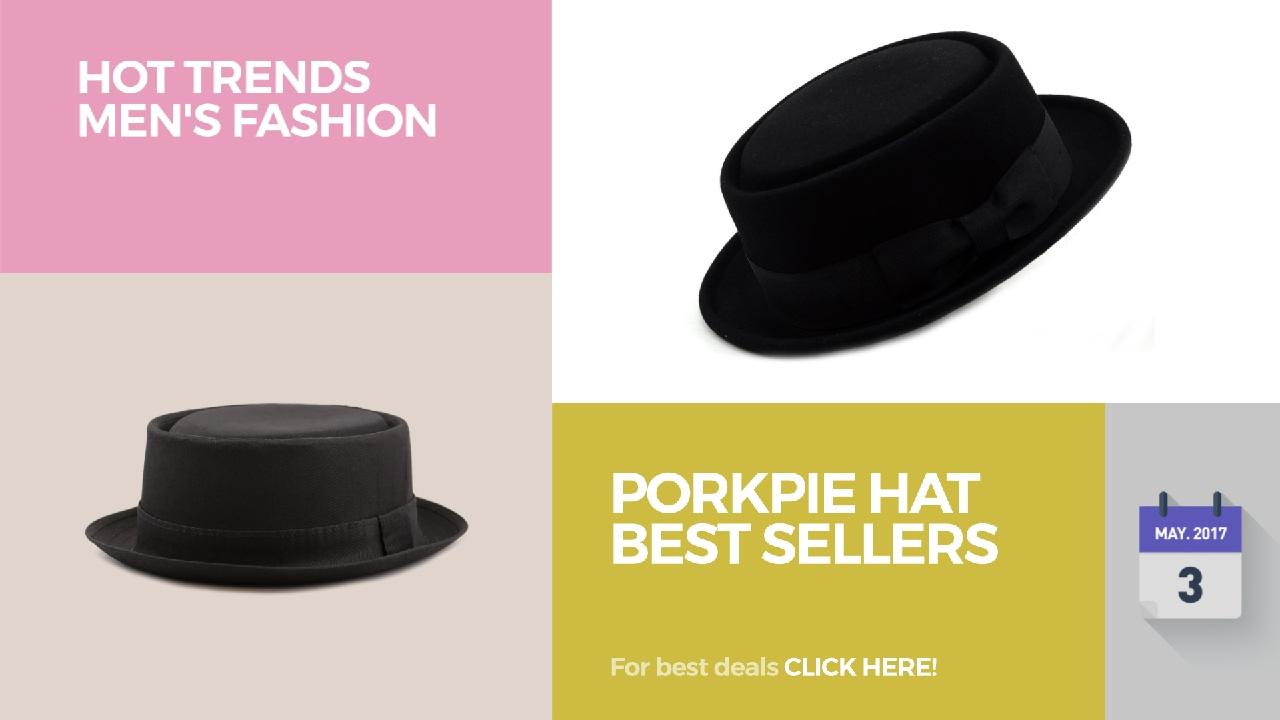 d2bcc78a95a PorkPie Hat Best Sellers Hot Trends Men's Fashion - YouTube